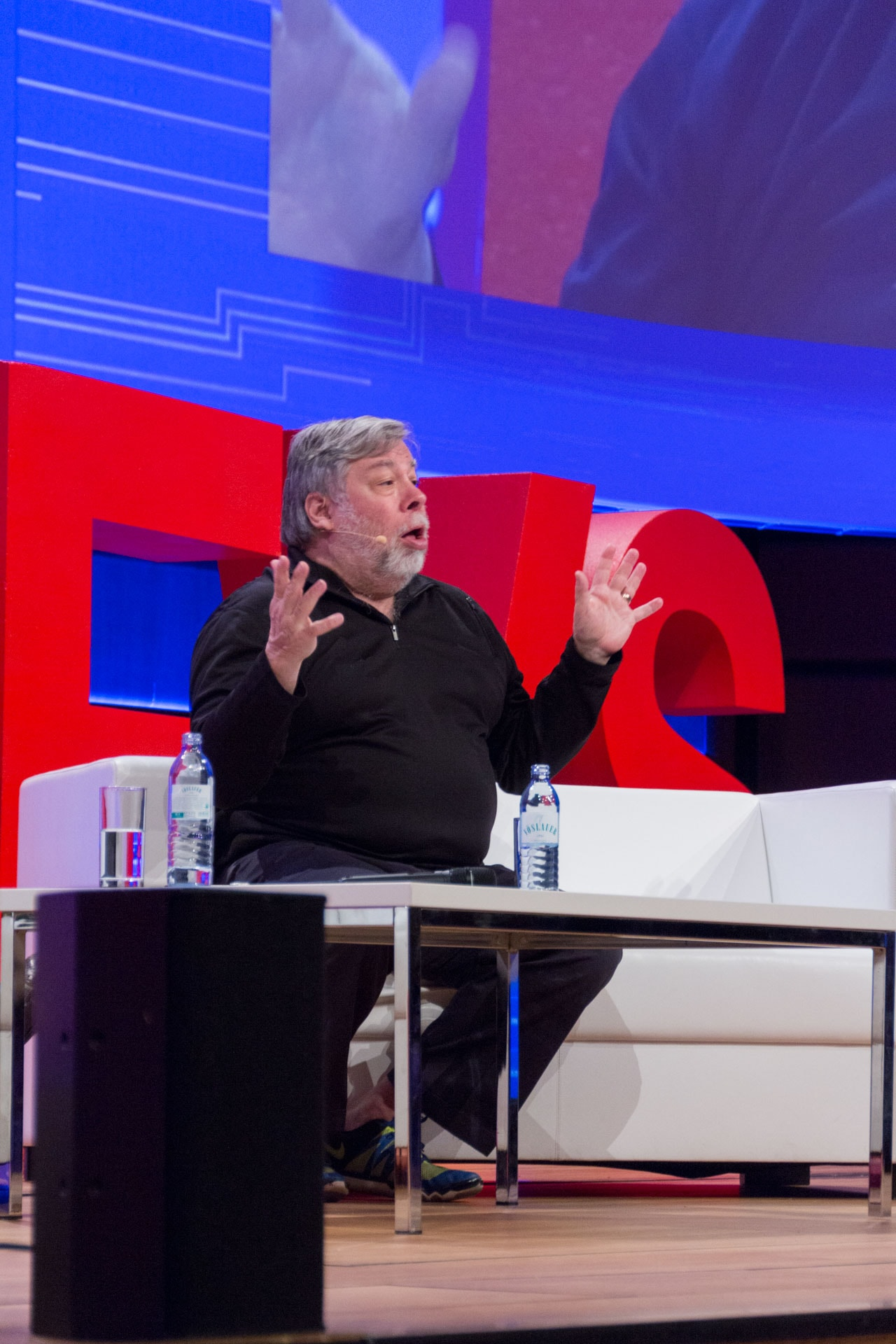 Steve Wozniak über Bitcoin, Ether und Blockchain bei der WeAreDevelopers Konferenz in Wien während seinem Fireside Chat mit Monty Munford