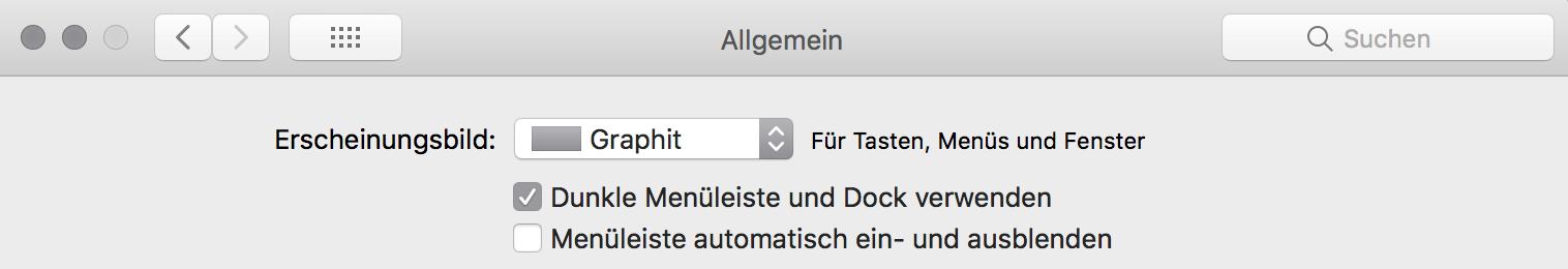 Dock und Menüleiste dunkel stellen im macOS, Hack4Life, Fabian Geissler, macOS 10.14, Neuerung
