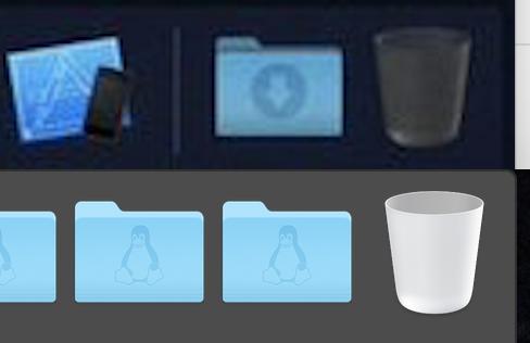 Vergleich der Papierkörbe in macOS, Hack4Life, Fabian Geissler, macOS 10.14, Dark Mode