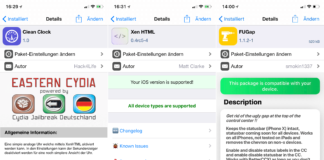Top Cydia Tweaks Ausgabe 4, Hack4Life, Fabian Geissler, FuGap, Xen HTML, Clean Clock, Fortnite Bypass, Power Selector (CCSupport), EasternCydia, Crash Reporter