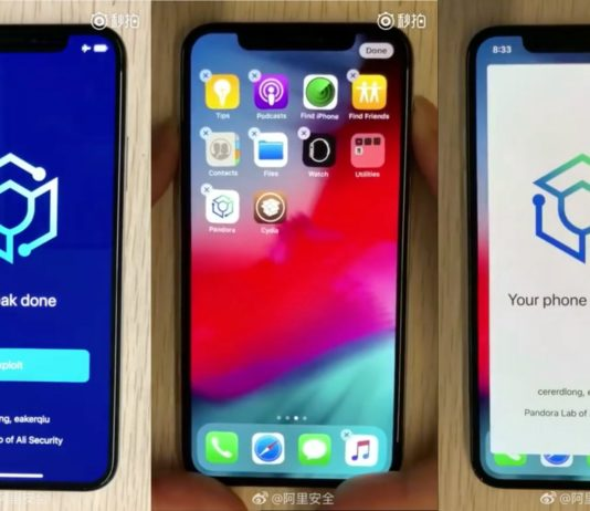 iOS 12 Jailbreak von Ali Security mit Pandora, iOS 12 Jailbreak untethered, Proof of concept, Hack4Life, Fabian Geissler, iPhone X, iPhone Xs, Exploit, video, Demo, Download, Free, kostenlos