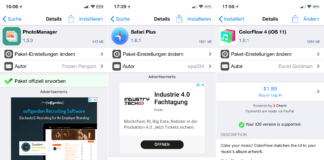 PhotoManager, SafariPlus, ColorFlow 4, HideKBSettings, NoMoreSuggestions, Hack4Life, Fabian Geissler, kostenlos, Gratis, Hack