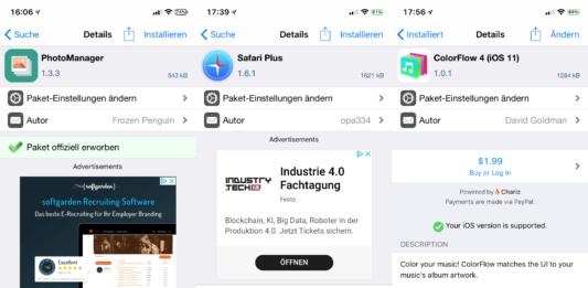 PhotoManager, SafariPlus, ColorFlow 4, HideKBSettings, NoMoreSuggestions, Hack4Life, Fabian Geissler, kostenlos, Gratis, Hack