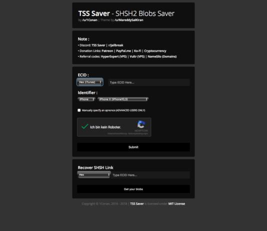 TSS Saver zum sichern von SHSH2 Blobs verwenden, Hack4Life, 1conan, Anleitung, iOS 11, iOS 11.4.1, iOS 11.3.1, Hack4Life, Fabian Geissler