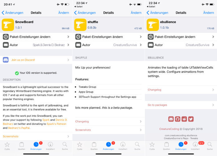 Ebullience, Hemera, Shuffle, Stack, Snowboard - Top Cydia Tweaks Issue 14, Fabian Geissler, Hack4Life, Cydia, Sileo, Repo, Download, free, tutorial, help, support, .deb, swift