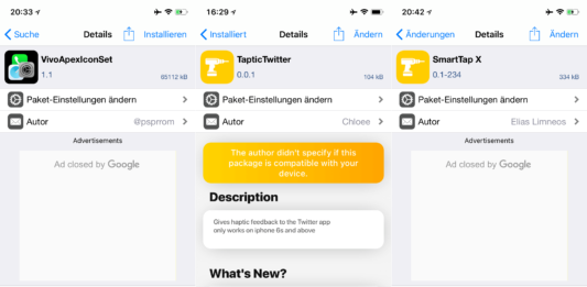 AnemationLESS, SmartTap X, TapticTwitter, VivoApexIconSet, WARemoveCameraTabBar, Top Cydia tweaks, Issue 19, Sileo, Download, .deb, free, Hack4Life, Fabian Geissler