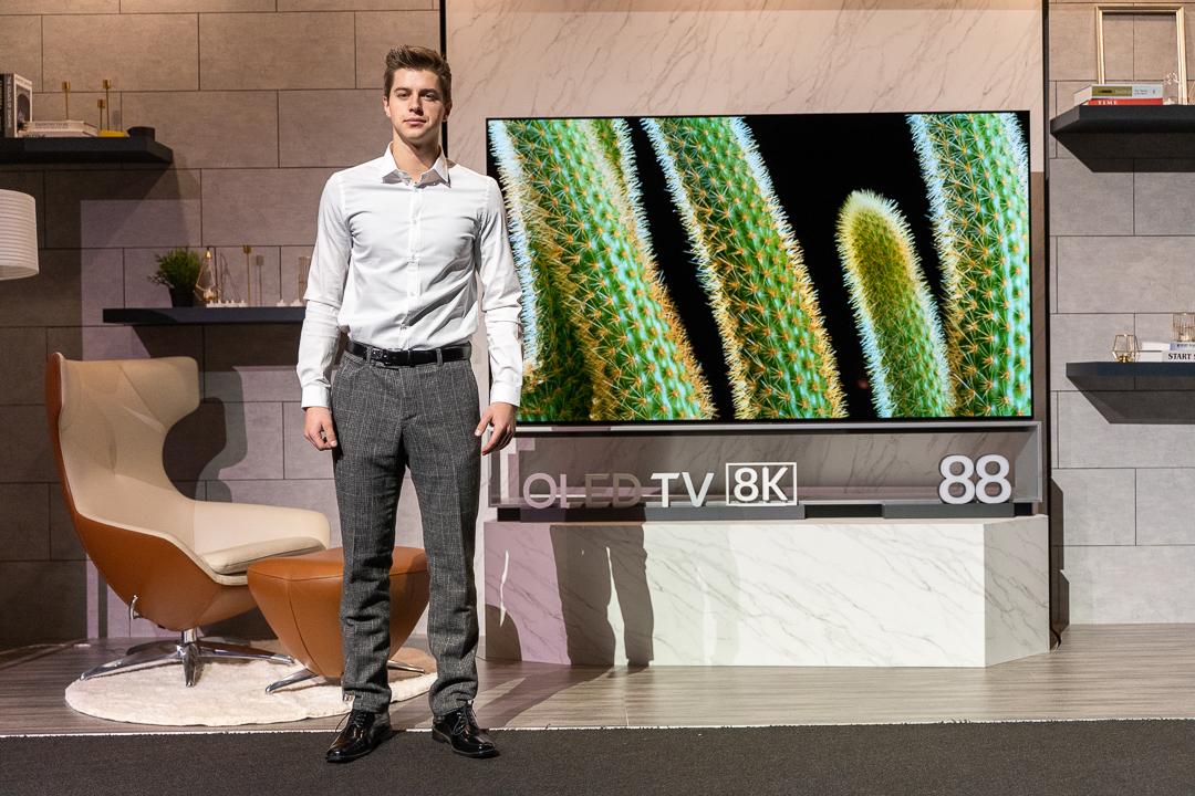 LG OLED TV 8k 88 Zoll, LG, CES, Las Vegas, Hack4Life, Fabian Geissler