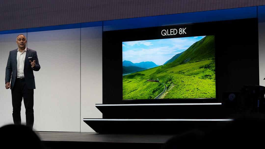 Samsung QLED 8K Fernseher, Samsung, CES, Las Vegas, Hack4Life, Fabian Geissler