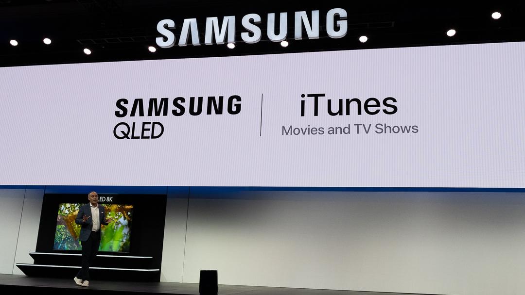 iTunes auf Samsung QLED Fernsehern, CES, Las Vegas, Hack4Life, Fabian Geissler