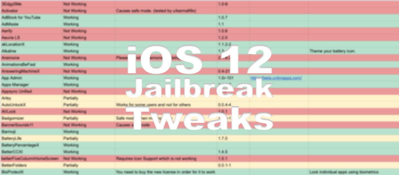 Kompatible iOS 12 Jailbreak Tweaks, unc0ver, iOS 12, Hack4Life, Fabian Geissler, Liste