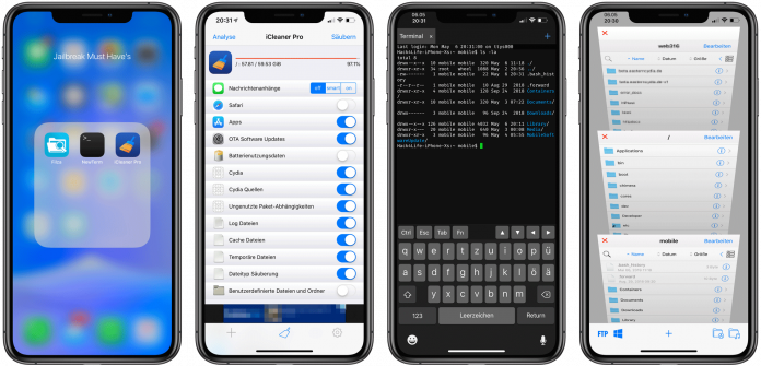 Must Have Tweaks für den iOS 12 Jailbreak, Chimera, iOS 12, A12, iPhone XS, iPhone XR, Hack4Life, Fabian Geissler, Anleitung, Tweaks, Sileo