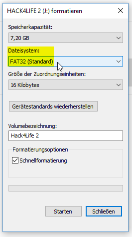 USB Stick mit FAT32 formatieren unter Windows, Hack4Life, Fabian Geissler, Anleitung, Checkra1n unter Windows starten und ausführen, iOS 12 Jailbreak, iOS 13 Jailbreak