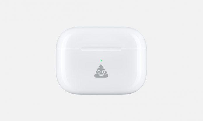 AirPods Pro kostenlos verschönern, Hack4Life, Fabian Geissler, Apple Online Store, Emoji auf AirPods Pro, Kostenlose Gravur für AirPods, Anleitung, Poop Emoji auf AirPods Pro