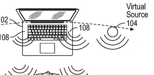 Patent von Apple für virtuelle Lautsprecher / Bild: USPTO, Hack4life, Fabian Geissler, Patentantrag, Apple, Macbook, AR im Macbook