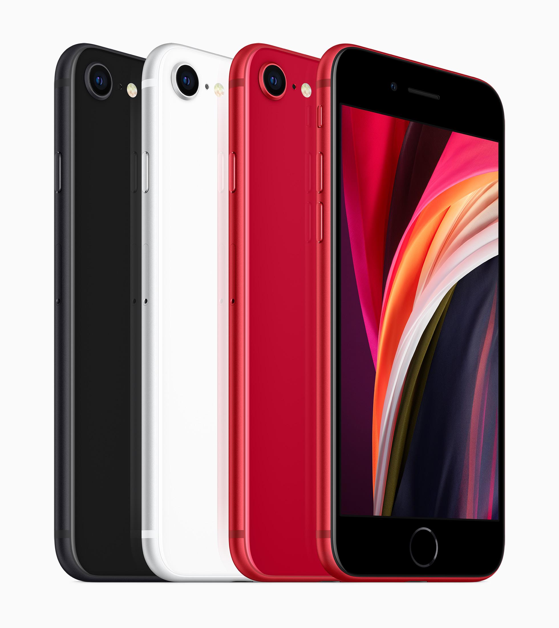 iPhone SE 2020 in drei verschiedenen Farben: Schwarz, Weiß und (PRODUCT)RED, Hack4Life, Fabian Geissler, Apple, iPhone SE Nachfolger
