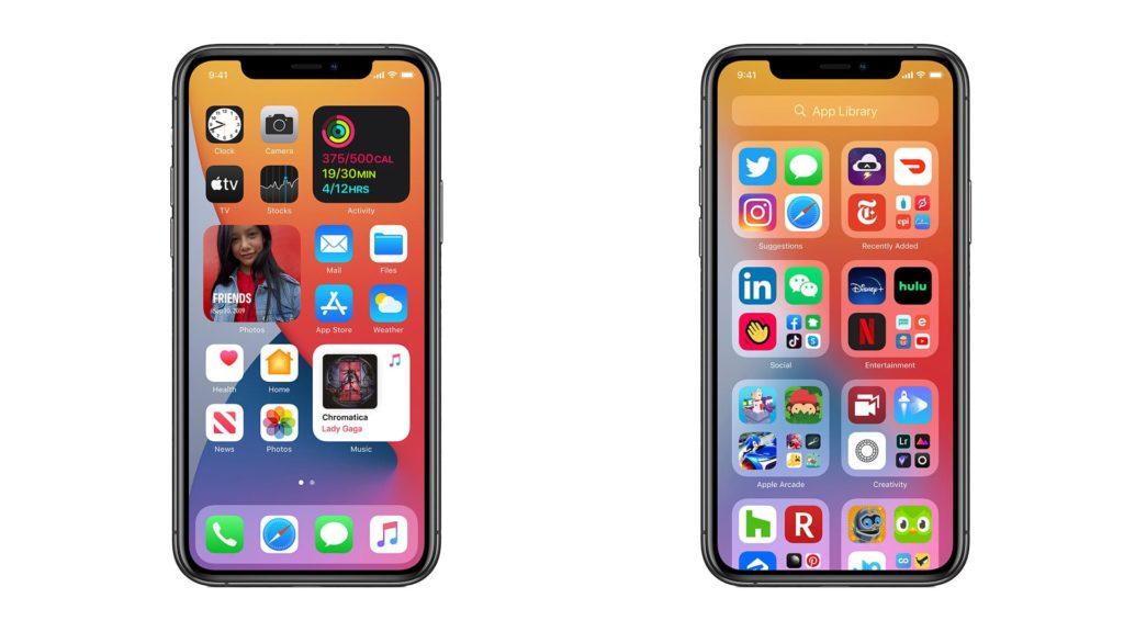 Der neue Homebildschirm in iOS 14 mit Widgets, intelligenten Stapeln und der App-Mediathek