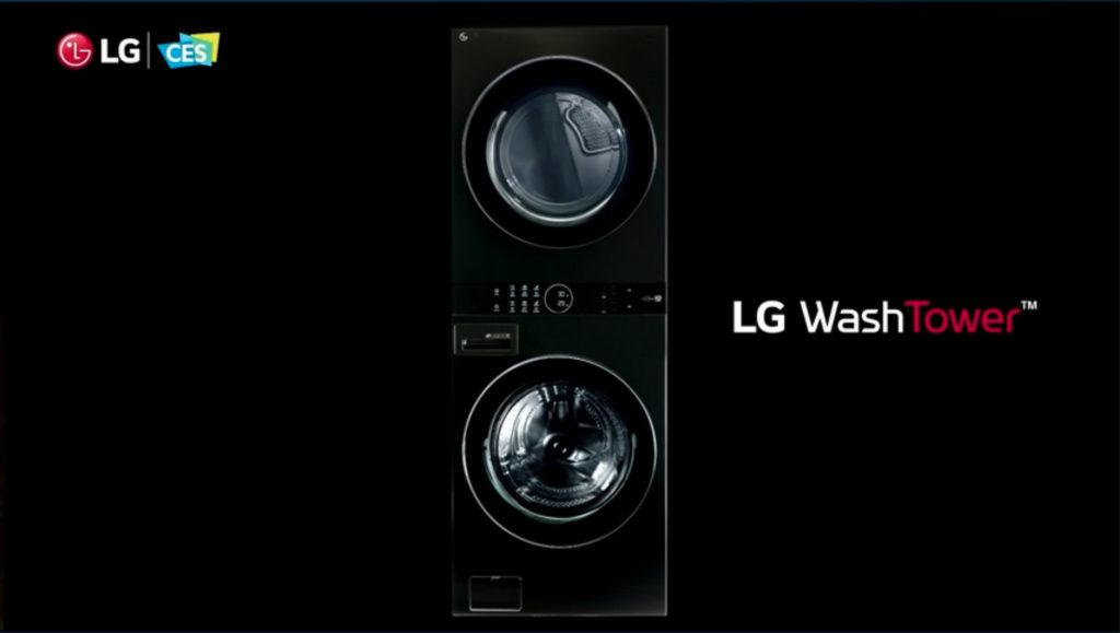 Der LG WashTower verbindet Waschmaschine und Trockner in vertikaler Position, Hack4Life, Fabian Geissler, CES 2021, LG